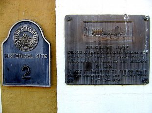 Emigrant Jane Building plaque