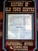 History of Old Town Centre